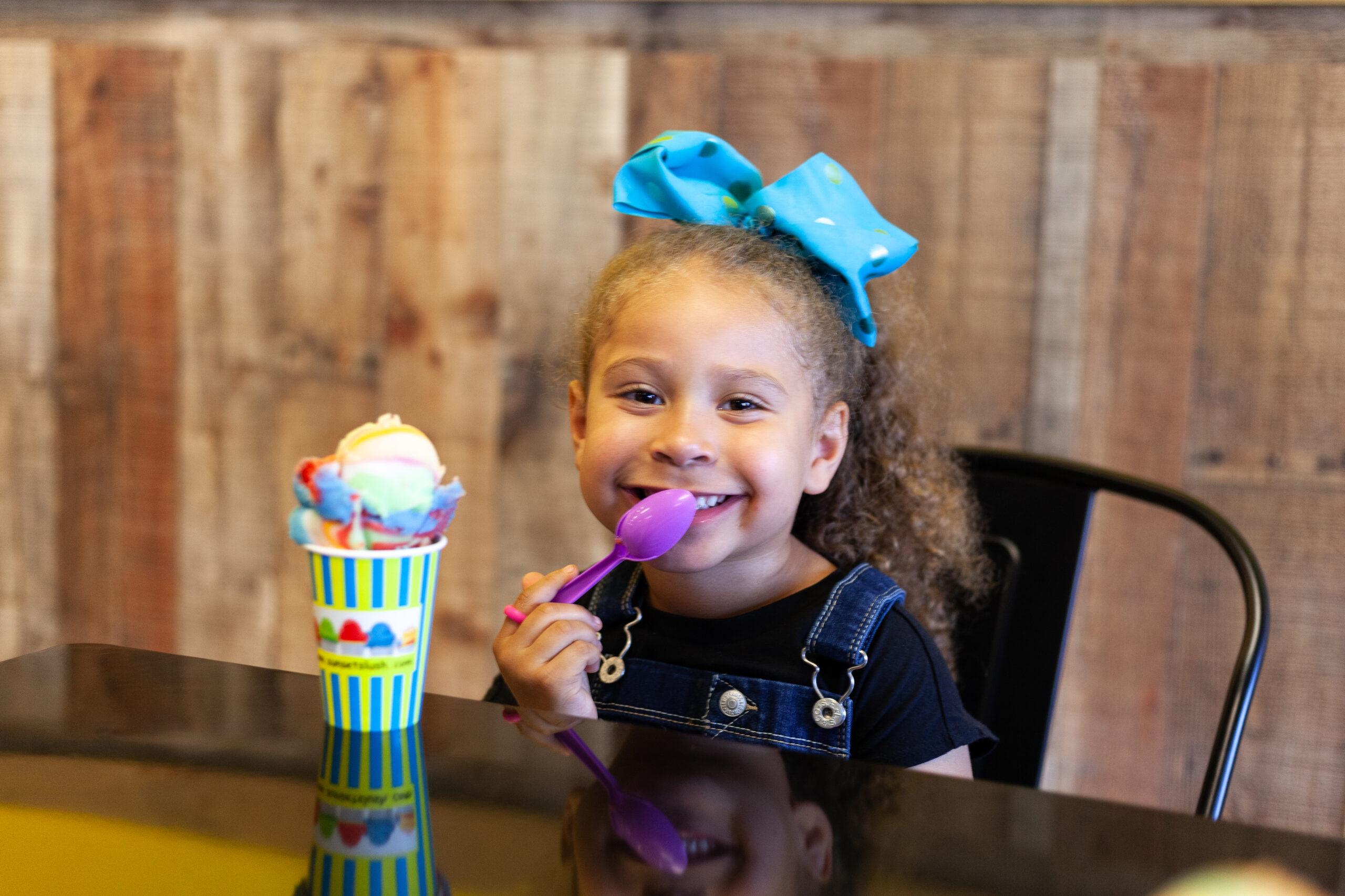 Italian ice slushy ice cream smiles