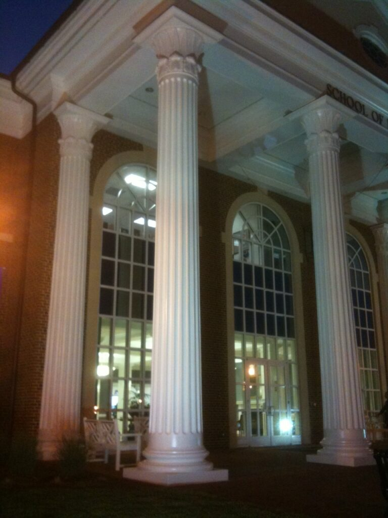 Fluted Column - High Point University Student Excellence Center