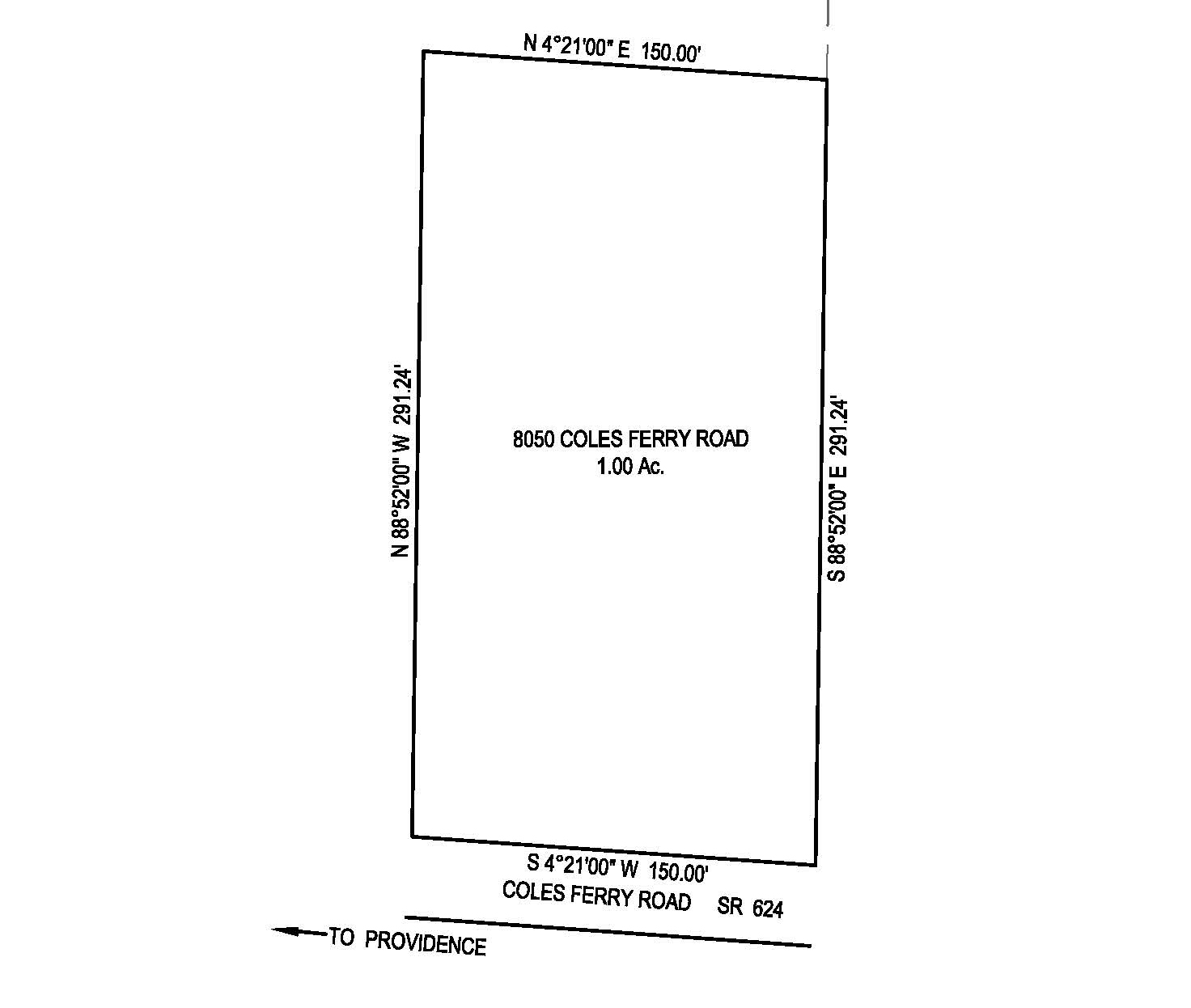 Halifax County Land for Sale on Coles Ferry Road