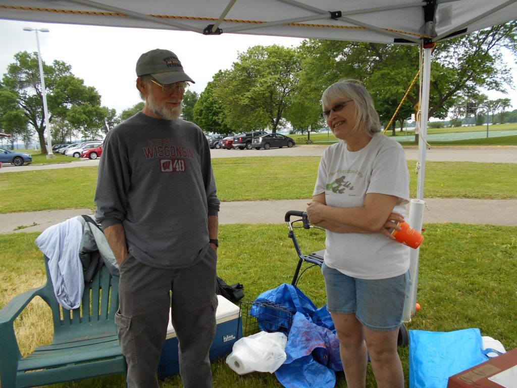 VFP Madison May 28 2016 installing Memorial Mile 010