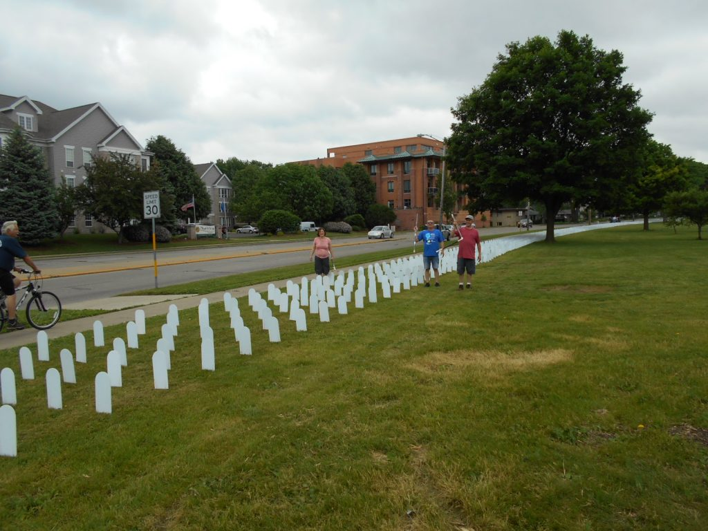 VFP Madison May 28 2016 installing Memorial Mile 011