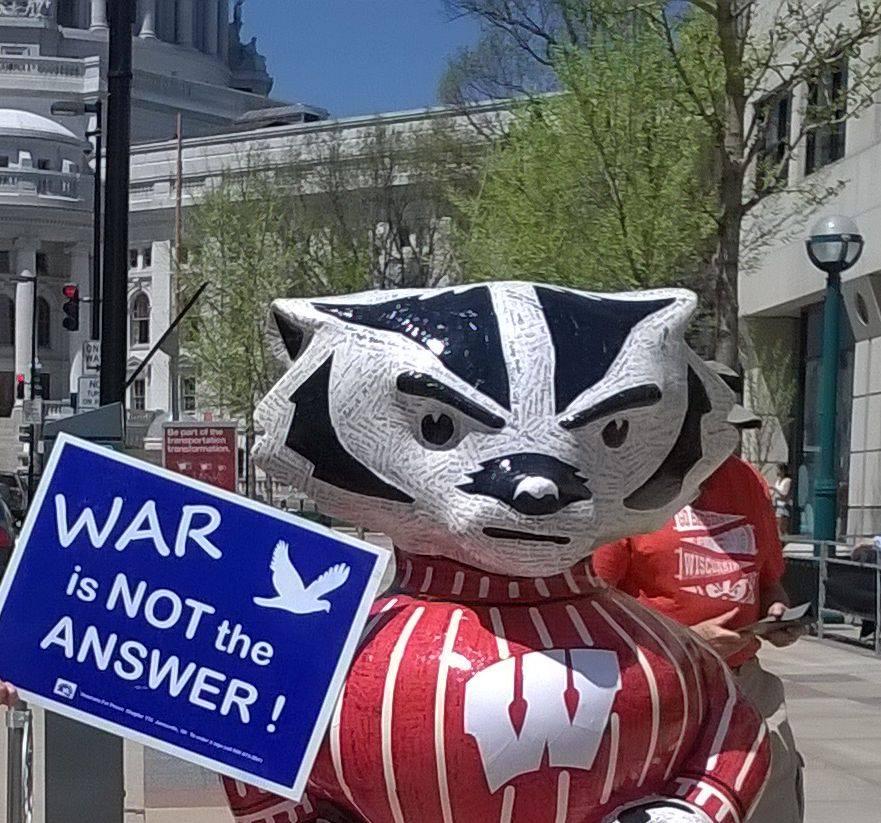 Antiwar Bucky at Capitol