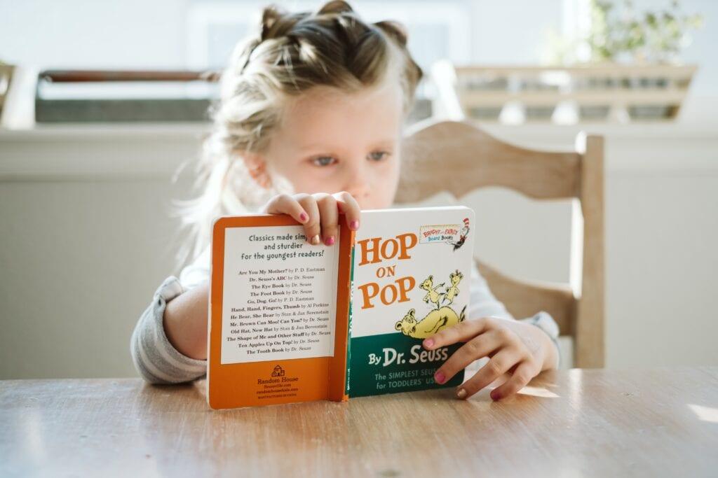 preschool professional day girl reading