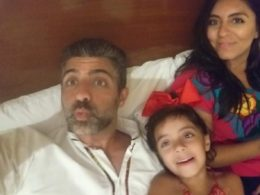 world's most handsome CEO in bed with hot wite and kid