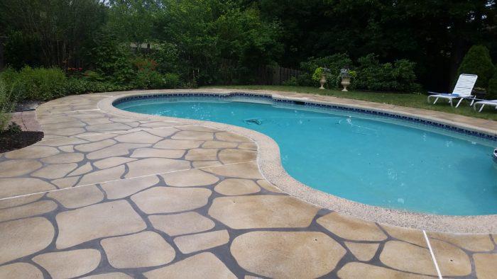 Concrete Overlay Pool Deck