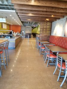 Polished Concrete Restaurant