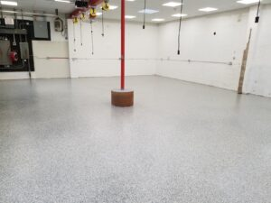 epoxy coating on a floor in a commercial business