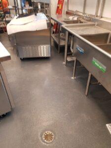 urethane floor in an industrial setting