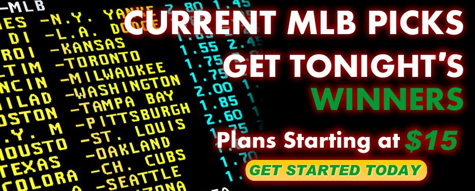 Current MLB Sports Handicapping Selections and bets