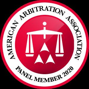 logo - american arbitration association panel member