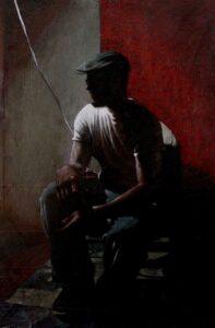 4. Jody Travis Thompson Self Portrait in Studio Oil on Canvas 36 in x 50 in, 2015 - Oil on Canvas