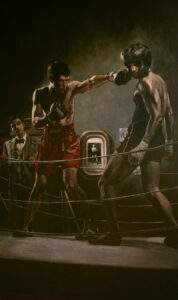 Izzy, Shem and Shaun - Oil on Canvas, 28 in x 40 in