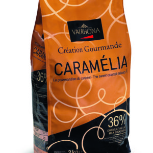 Valrhona  Caramelia 36% Milk Chocolate Feves  13-VC7098