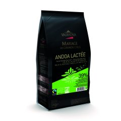 "Valrhona ""Andoa Lactee"" 39% Milk Chocolate Feves   13-VC12514"