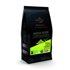 "Valrhona ""Andoa Noir"" 70% Organic Dark Chocolate Feves  13-VC12515"