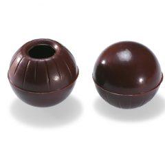 Valrhona Hollow Truffle shells -dark chocolate  #1732 OVERAGE