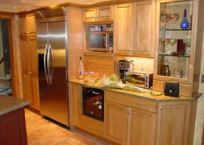 Traditional Kitchen cabinets and stainless steel appliances