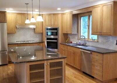 White Qak wood kitchen