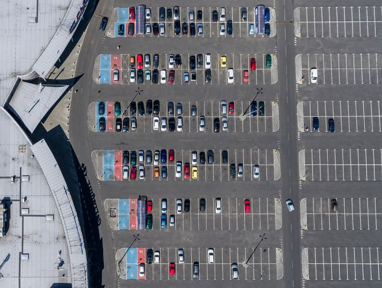 Shopping Center parking lot
