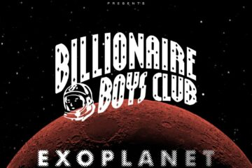 Billionaire Boys Club logo with a planetary background