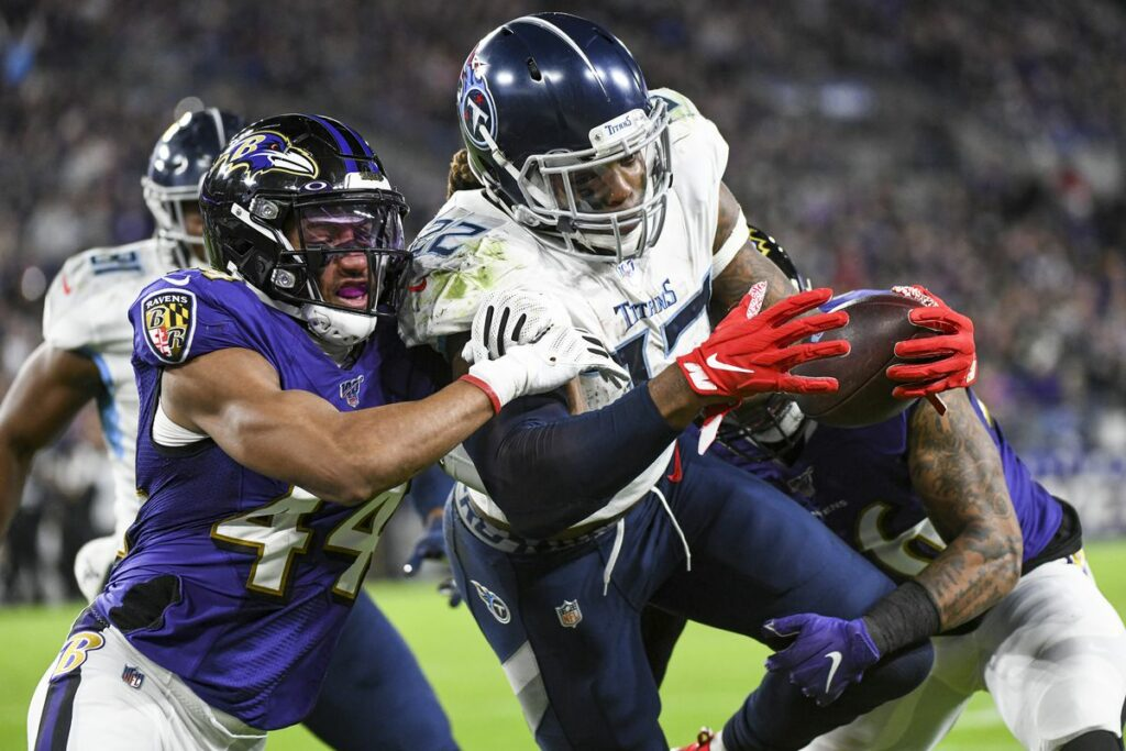 The Tennessee Titans pulling off one of the biggest upsets in the NFL taking down the Super Bowl favorites Baltimore Ravens