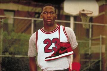 Michael Jordan with Air Jordan 1