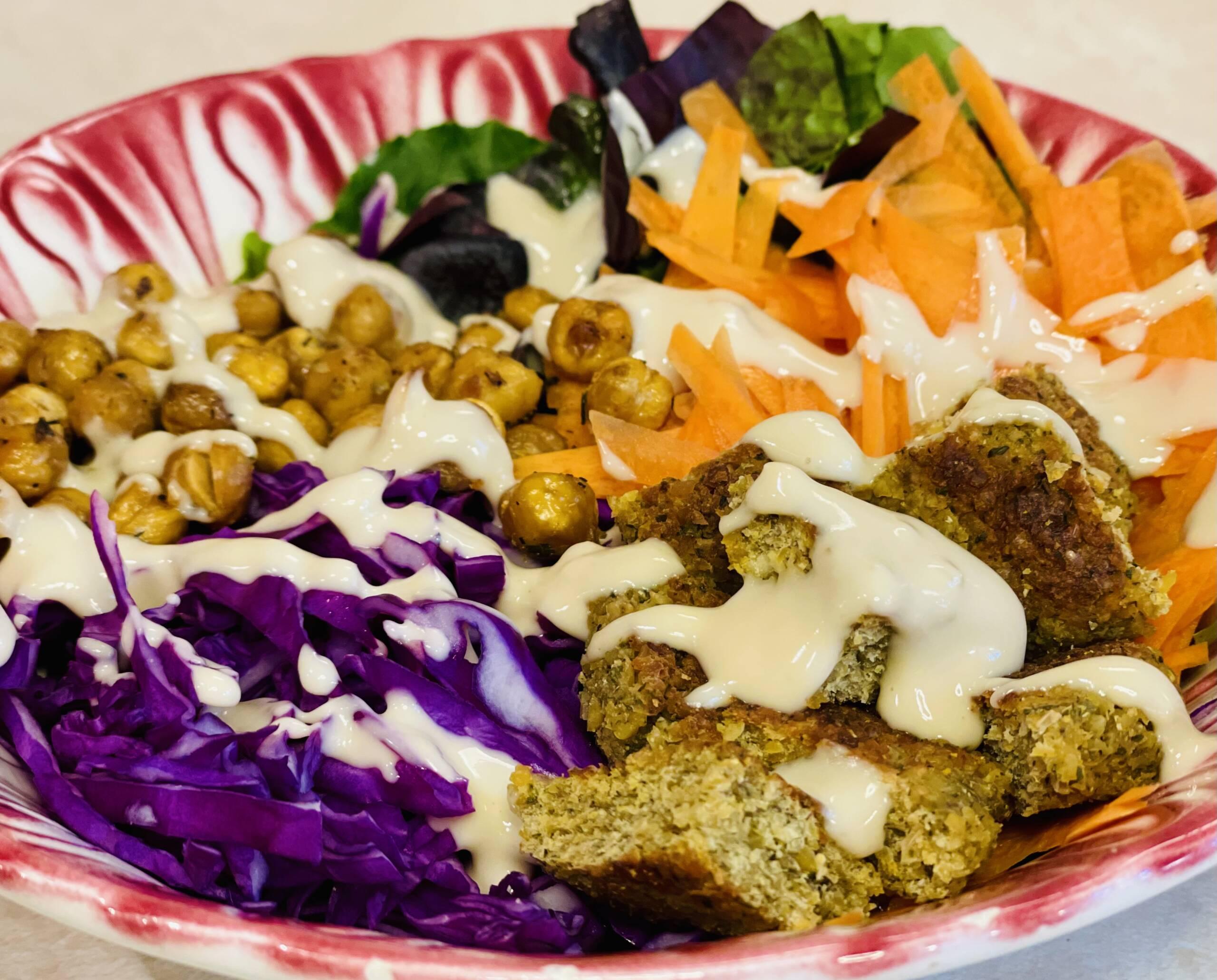 Falafel Buddha Bowl with Creamy Tahini Dressing