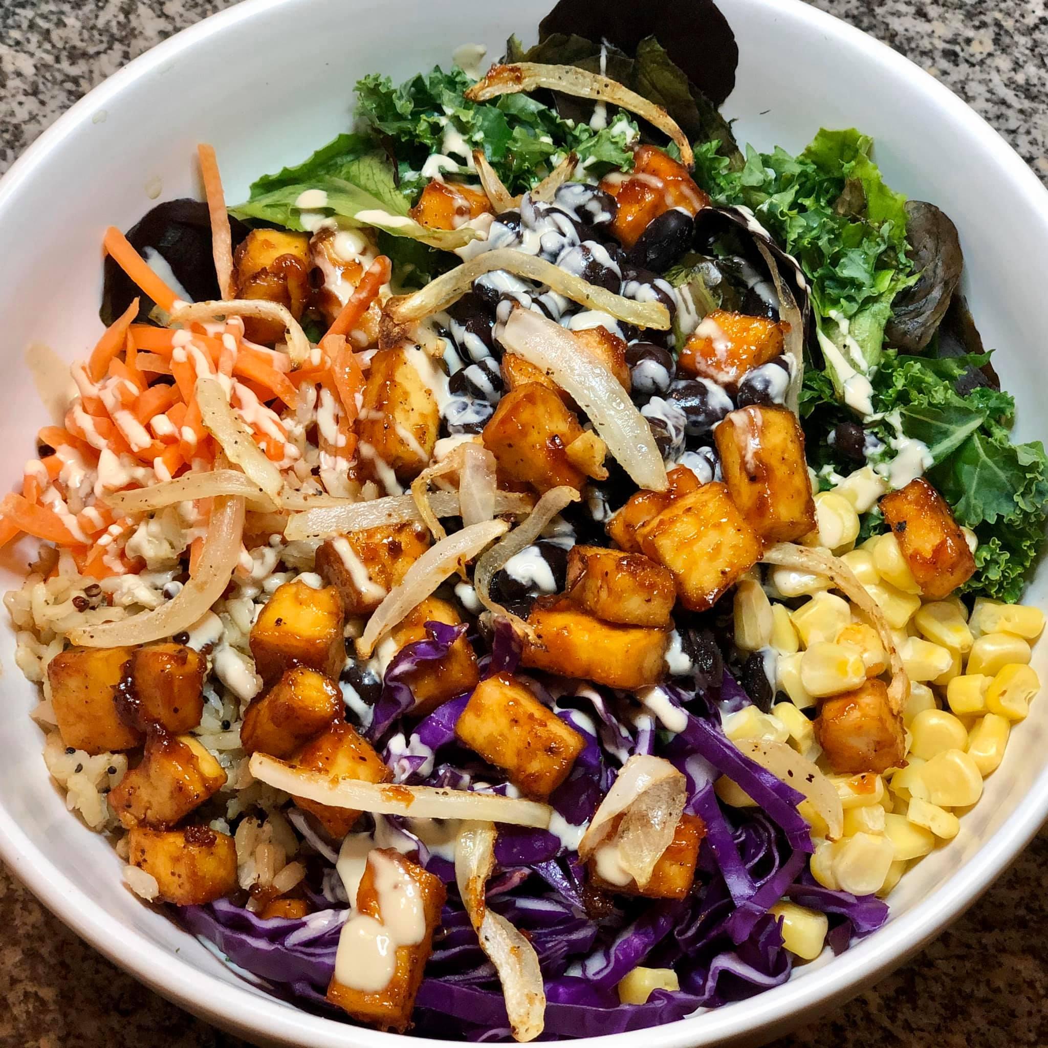 BBQ Tofu Buddha Bowl