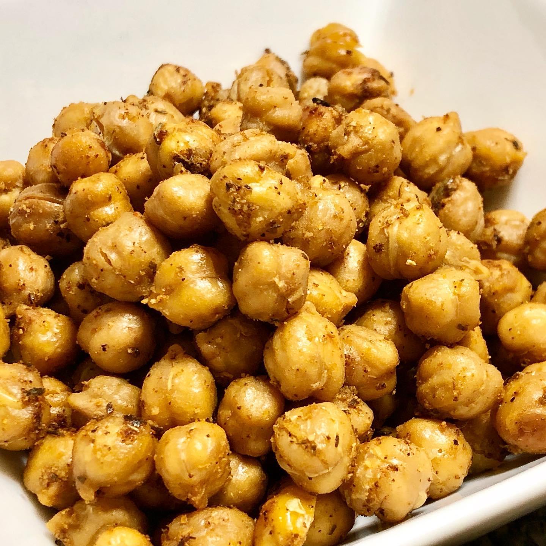 Crispy Roasted Chickpeas with Greek Seasoning