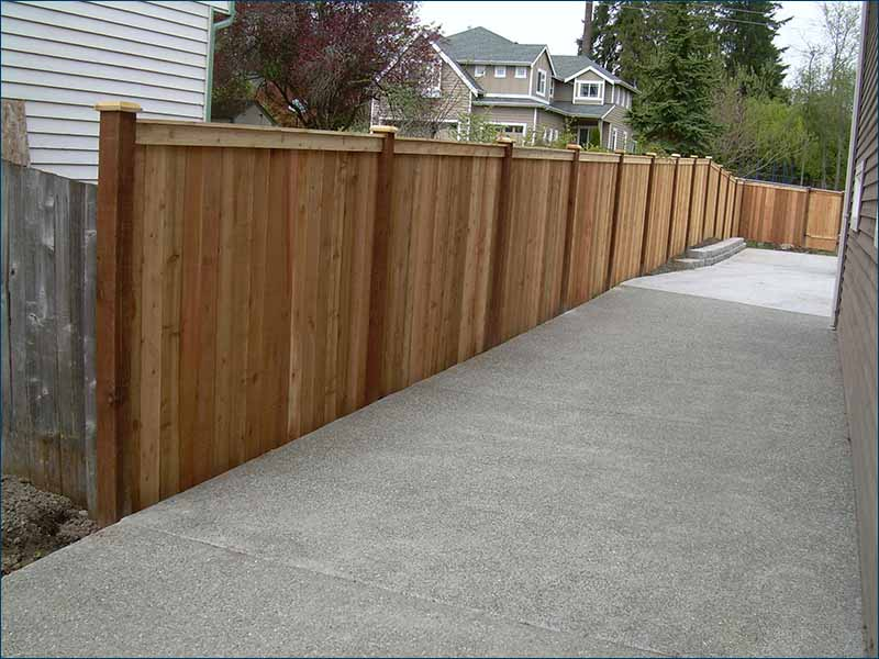 pacific deck and fence cedar fence