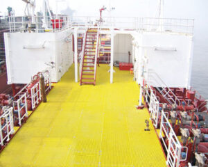 Applications of FRP Grating from Ocean to Sky