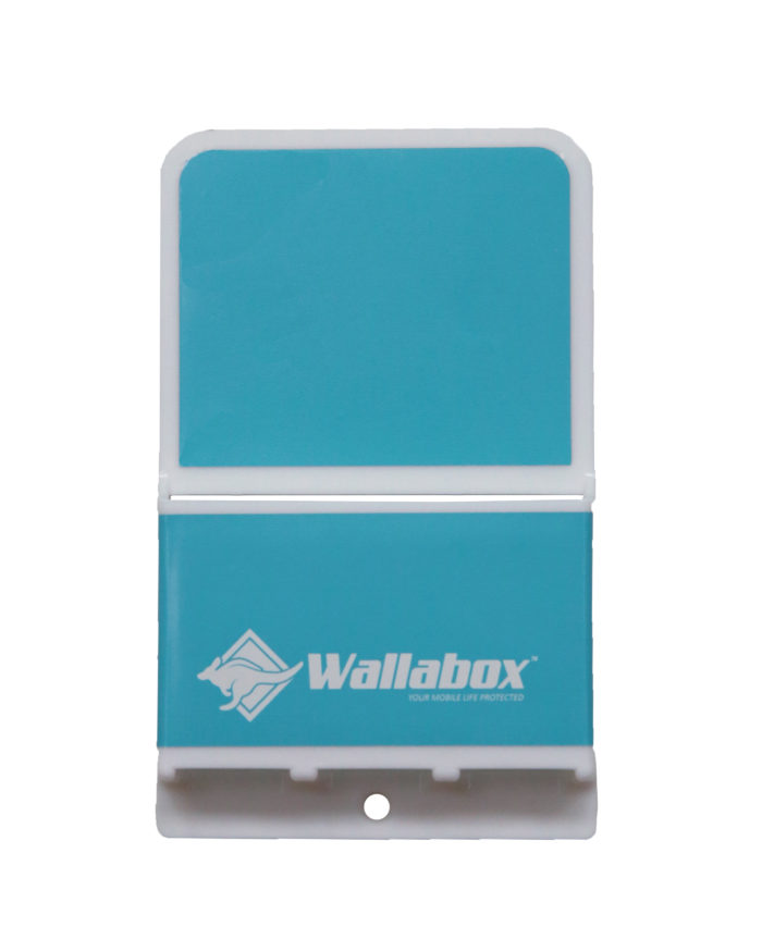 Universal Wall Mounted Cell Phone Holder in Caribbean Blue