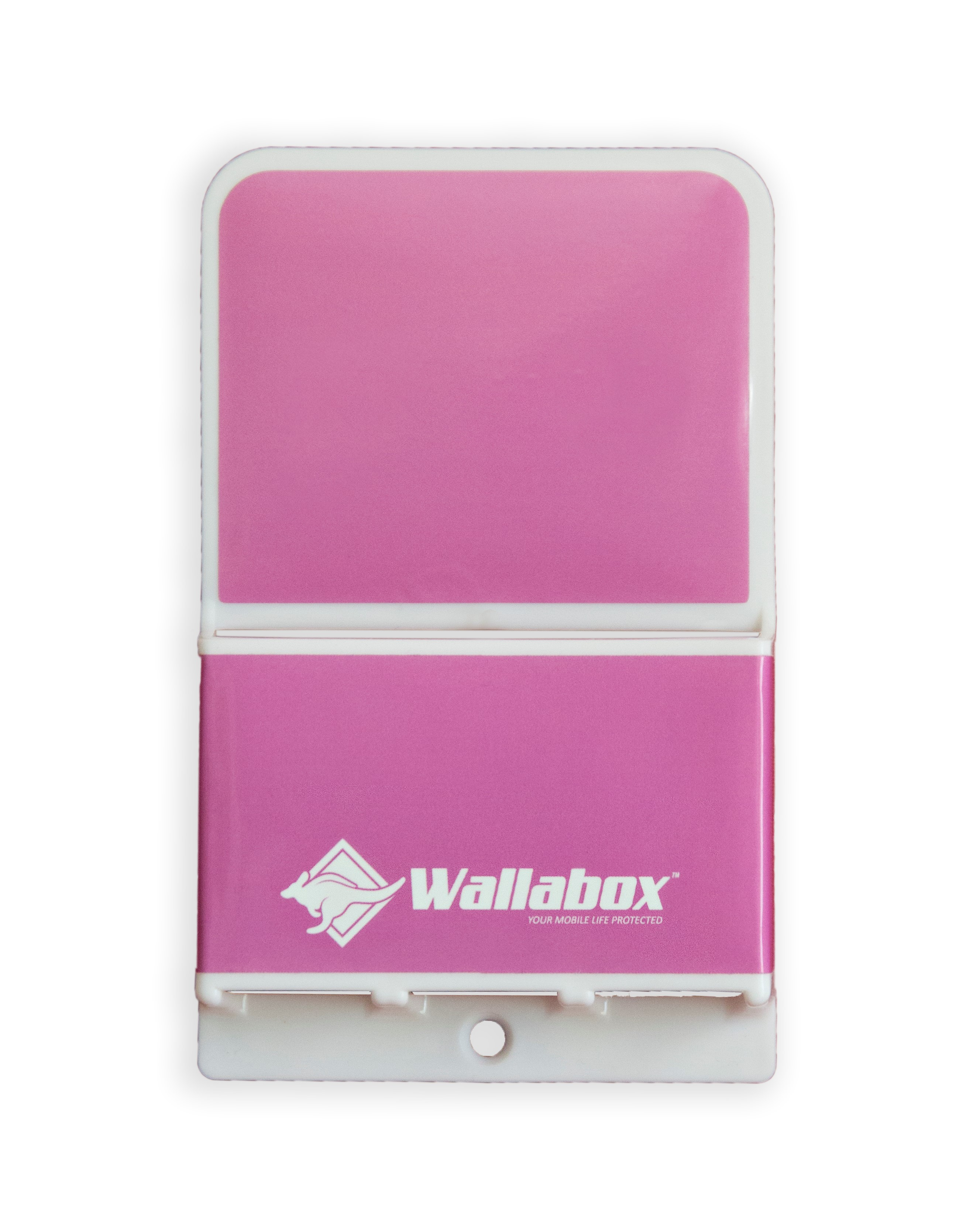 Universal Wall Mount Cell Phone Holder in Hot Pink