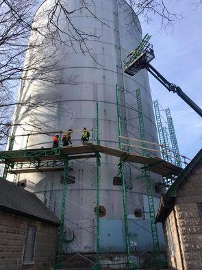 What is scaffolding platform