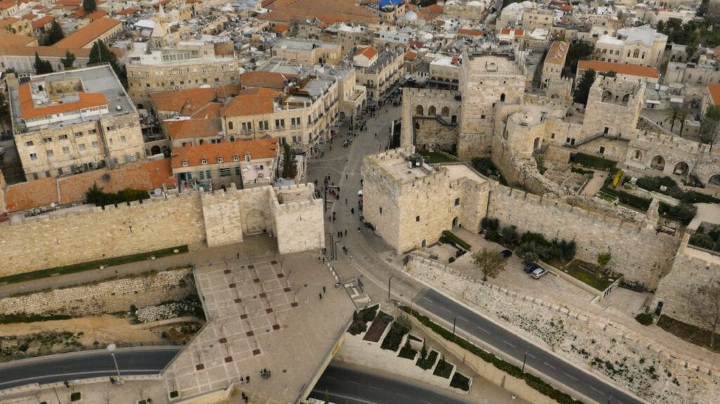 Drone aerial filming in Israel and Palestine