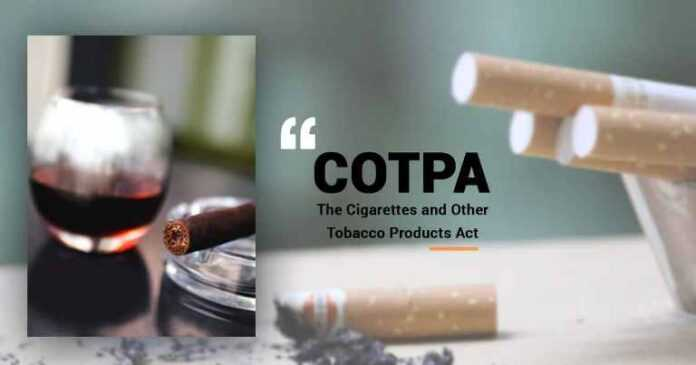 Cigarette & other Tobacco Products Act (COTPA)