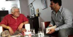 Malik Sumeed with Om Puri