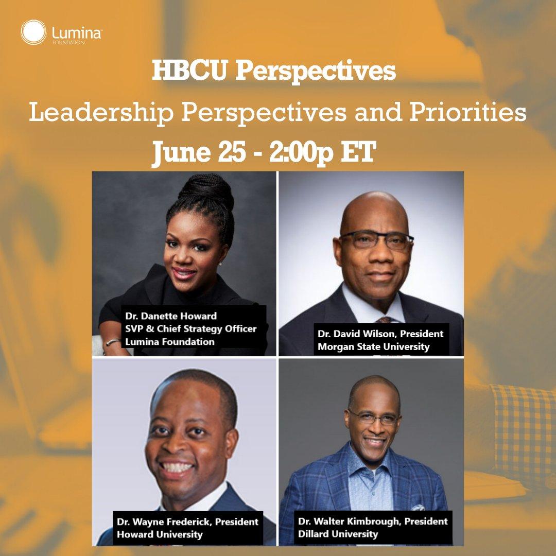 HBCU Leadership Perspectives & Priorities
