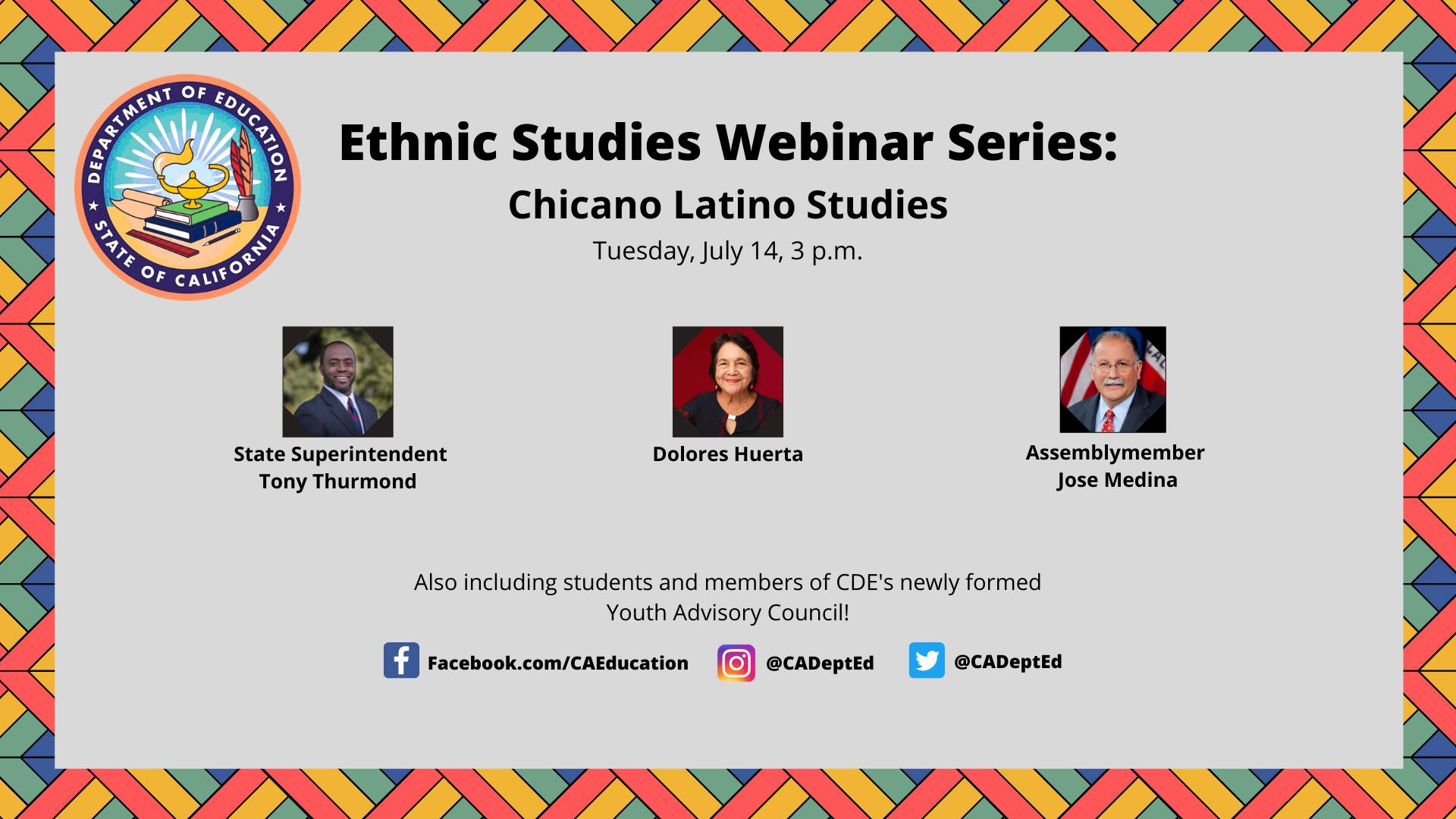 Ethnic Studies Webinar Series: Chicano Latino Studies