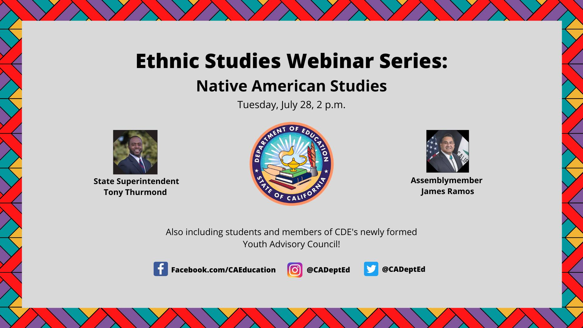 Ethnic Studies Webinar Series: Native American Studies