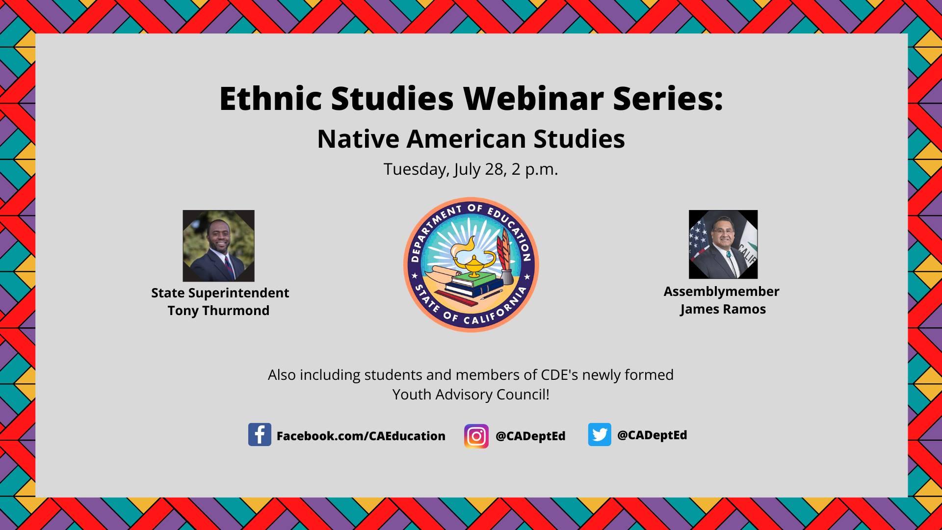 Ethnic Studies Webinar Series: Native American Studies