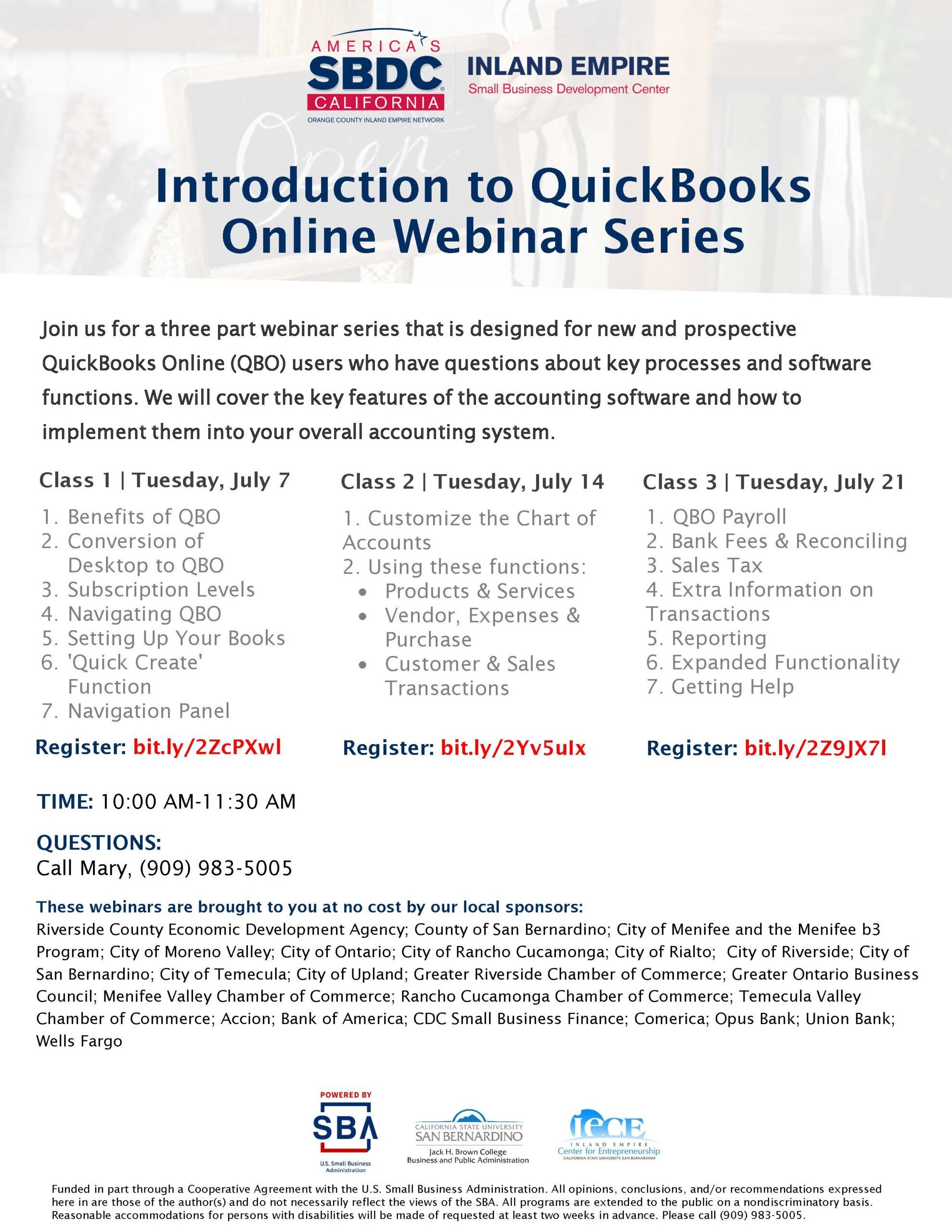 Introduction to QuickBooks Online (Class 3)