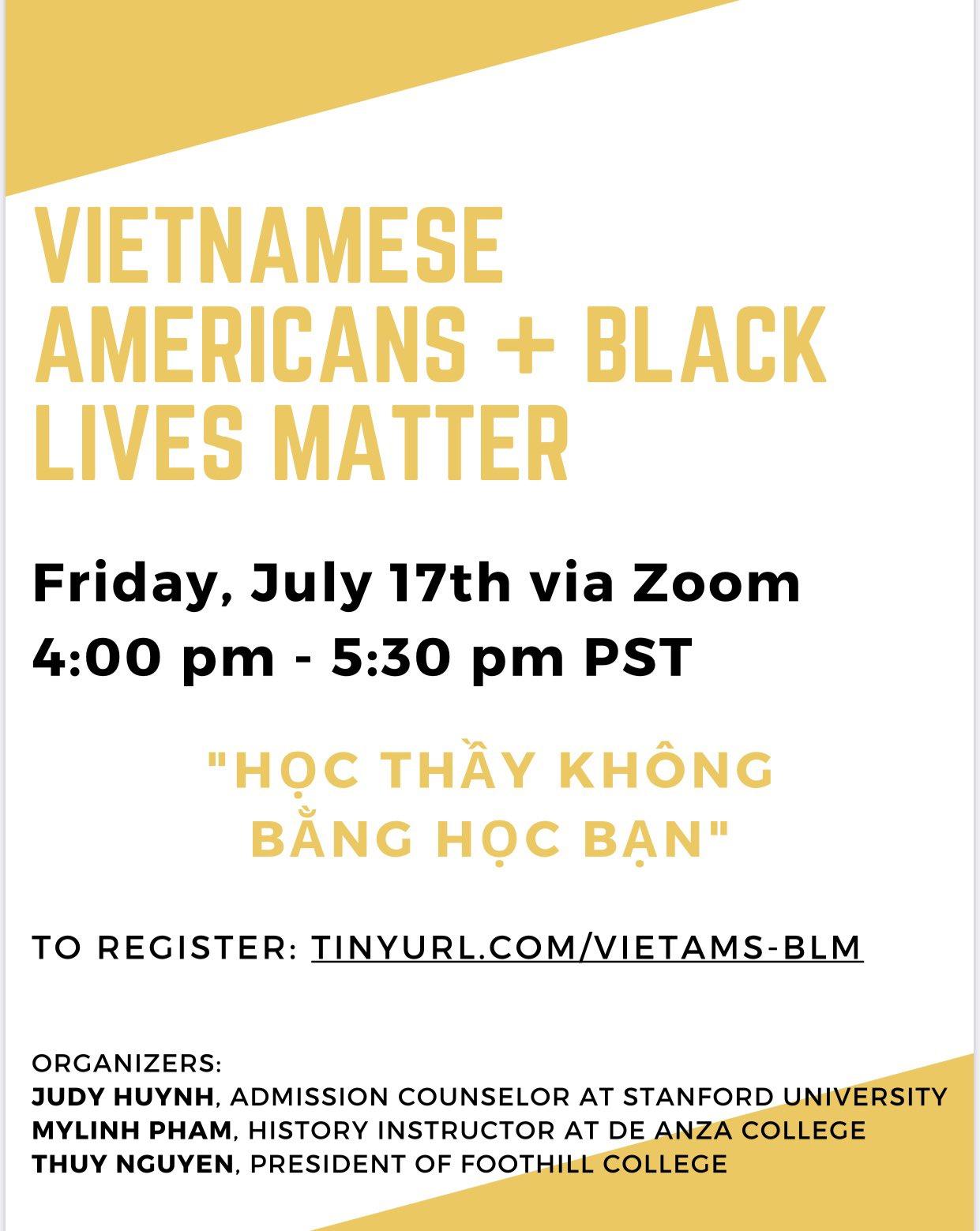 Vietnamese Americans + Black Lives Matter