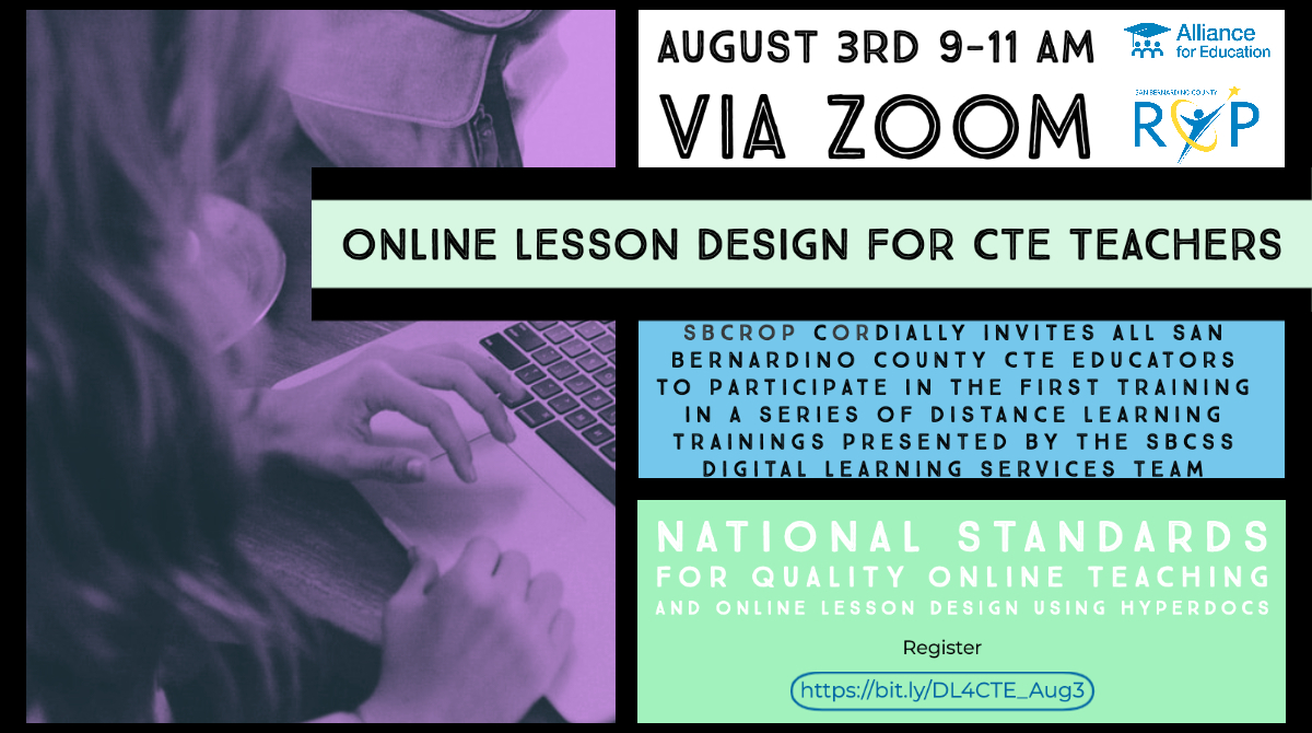 Online Lesson Design for CTE Teachers