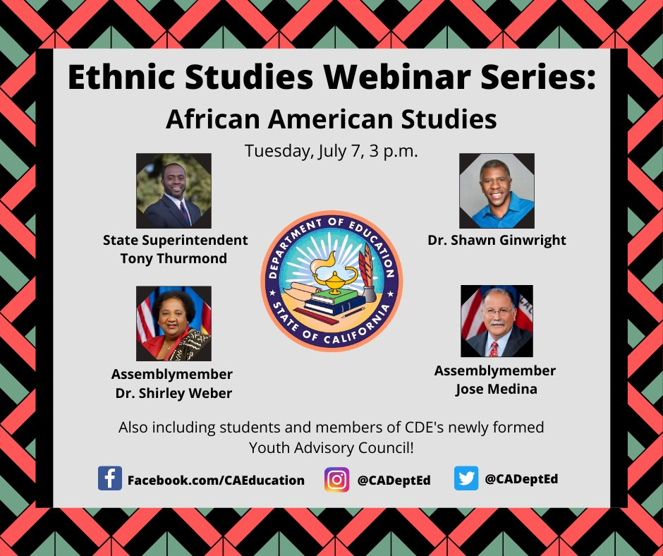Ethnic Studies Informational Webinar Series