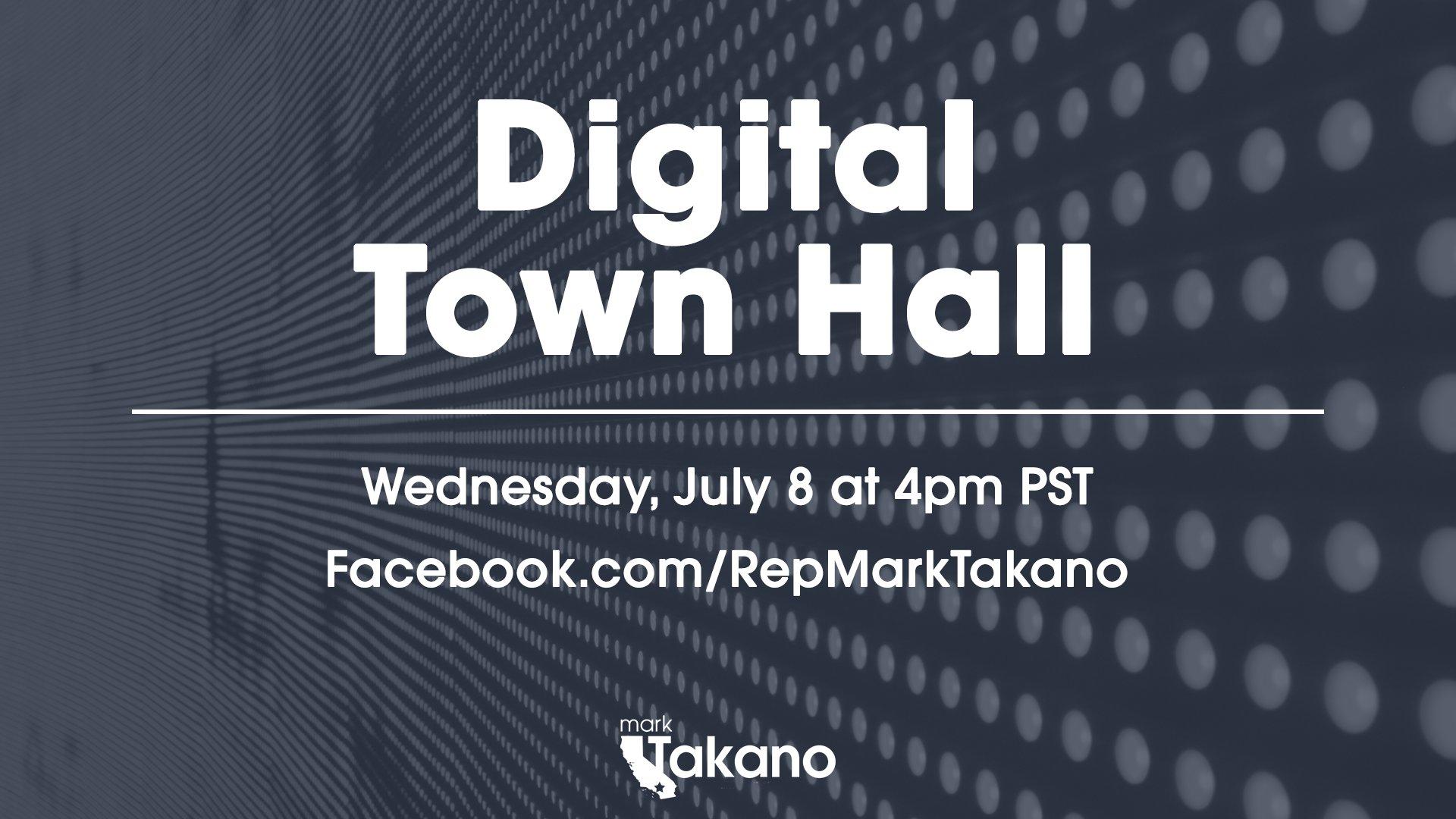 Digital Town Hall: Congressman Mark Takano