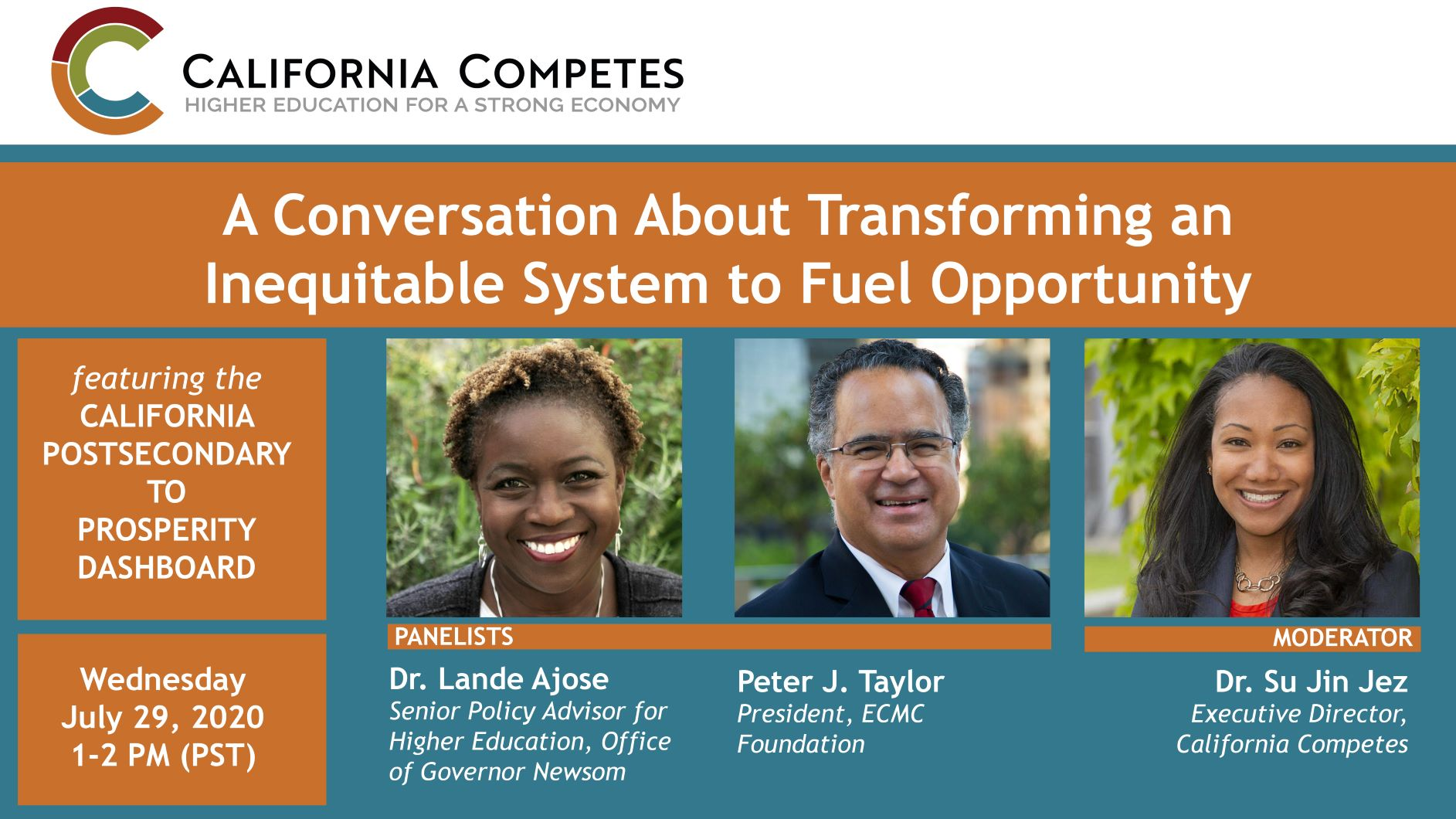 Postsecondary to Prosperity: A Conversation About Transforming an Inequitable System to Fuel Opportunity