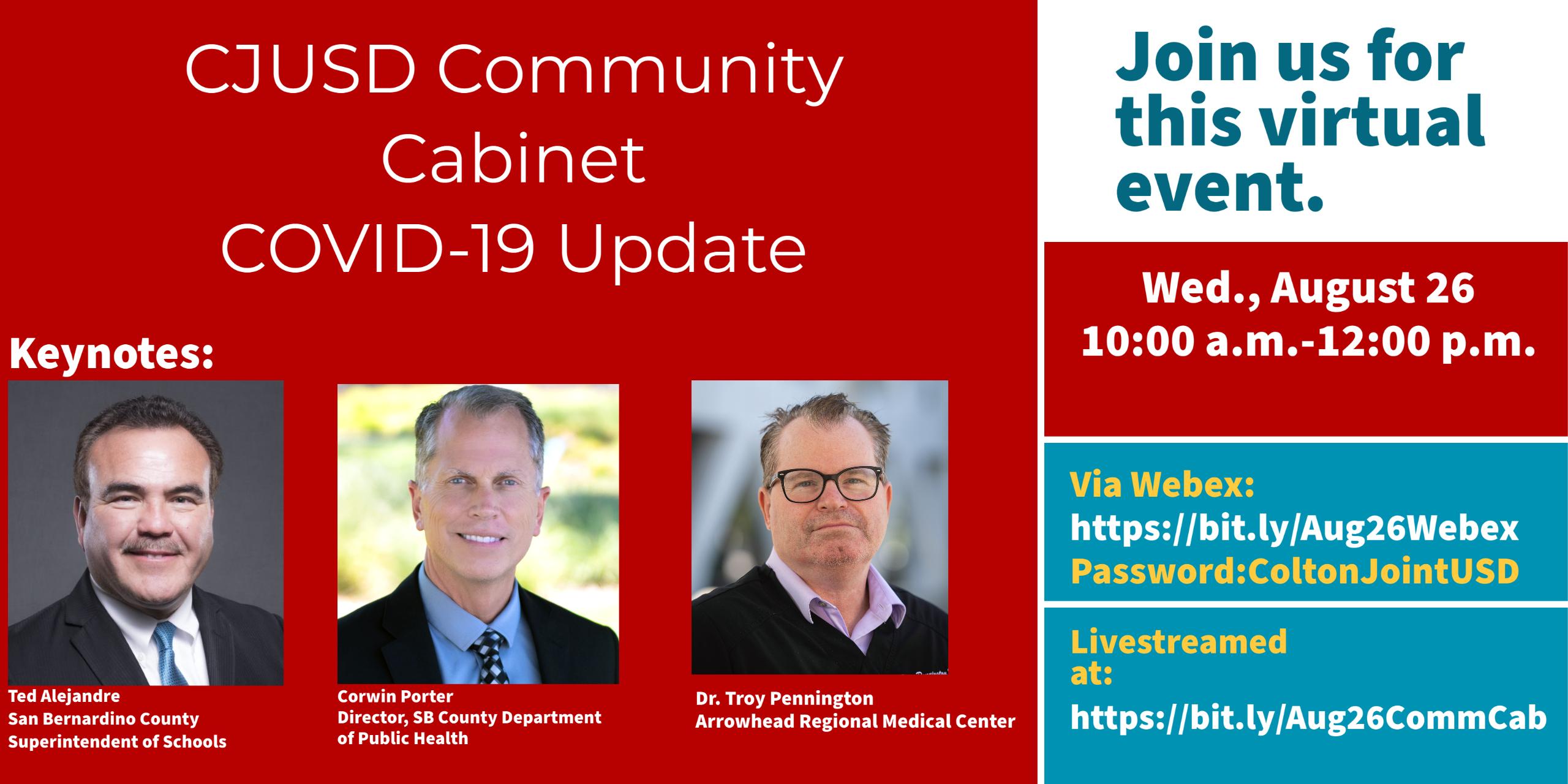 CJUSD Community Cabinet COVID-19 Update