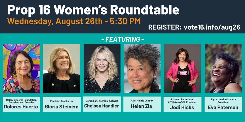 Prop. 16 Women's Roundtable