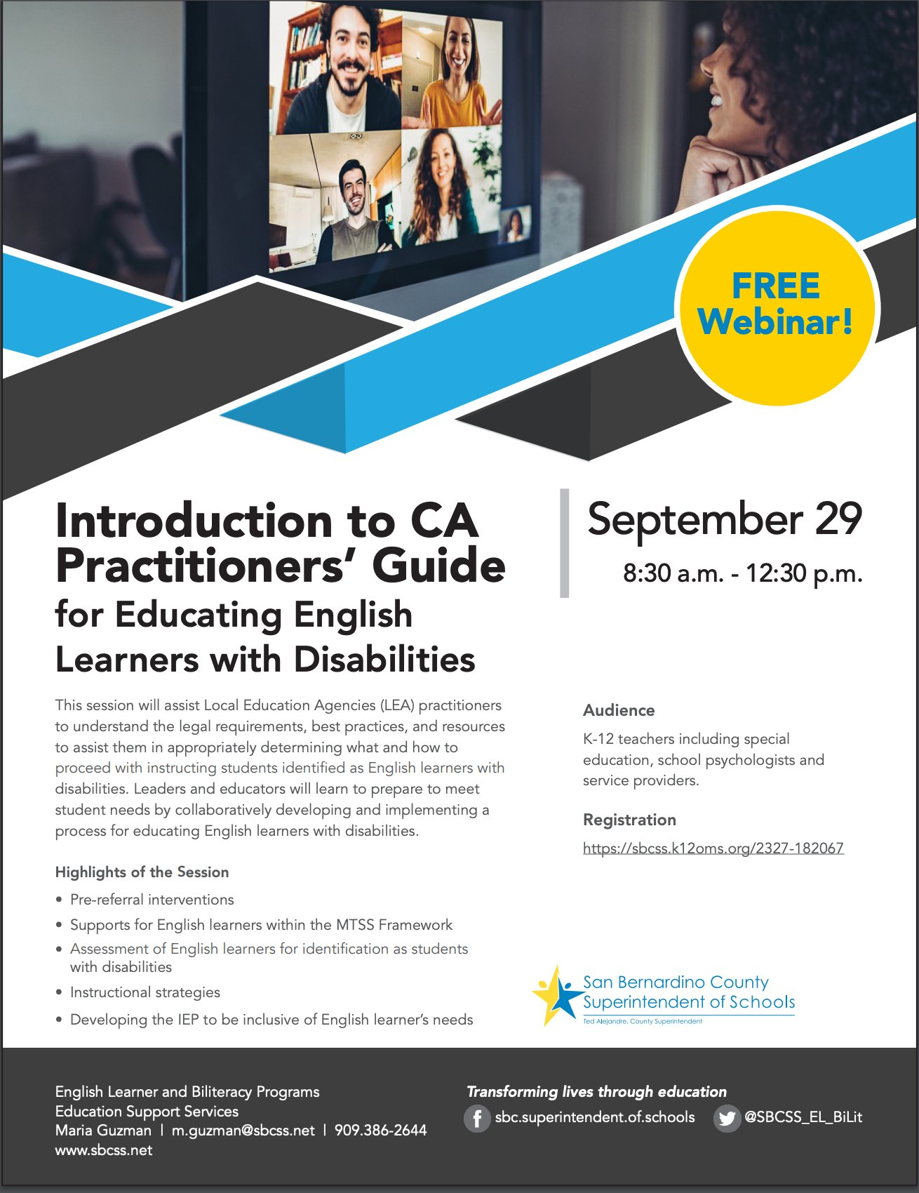 Introduction to CA Practitioners' Guide for Educating English Learners with Disabilities